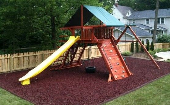 Playset In Mulch