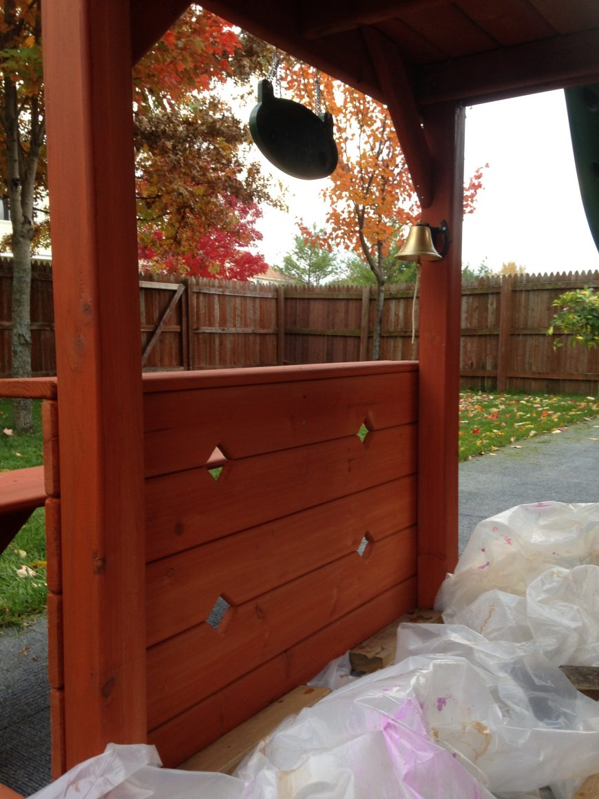 What Not To Do When Staining Your Wooden Swing Set