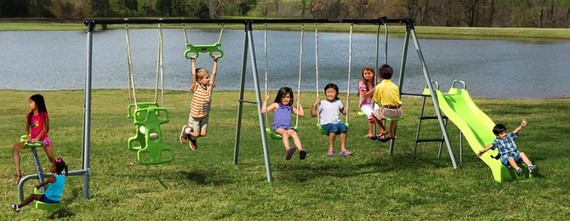 Bon You Can Purchase The Flexible Flyer World Of Fun Swing Set And Install It  In Your Backyard. Itu0027ll Encourage Your Children To Spend Time Outside In A  ...