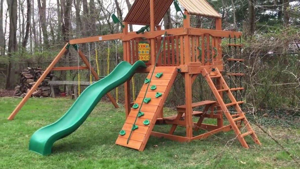 Gorilla Playsets Chateau Ii Wood Swing Set