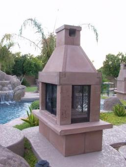 A guide to shopping for outdoor fireplace kits for Prefabricated outdoor fireplace kits