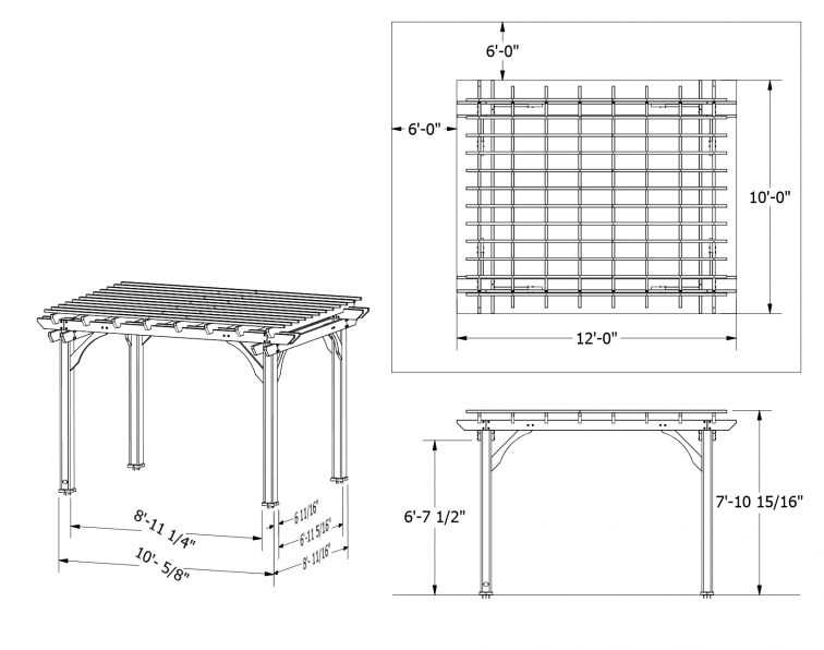 2 must have backyard discovery pergolas for Parts of a pergola