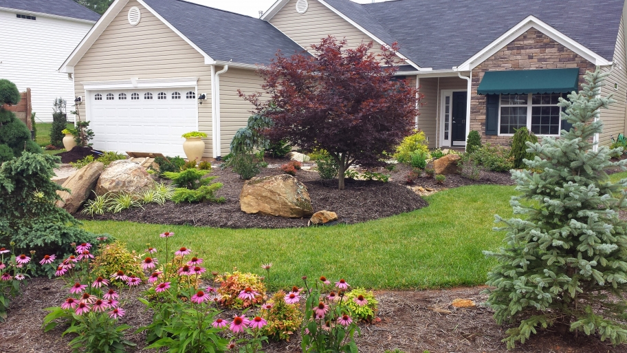 Low maintenance landscaping ideas for Low maintenance lawn design