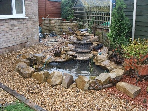 Backyard ponds a do it yourself guide for Diy small pond with waterfall
