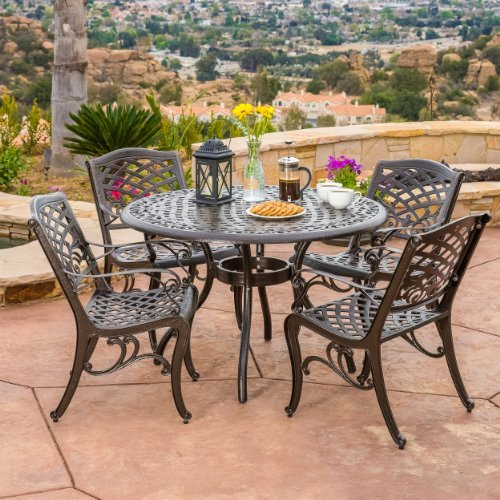 Rust Resistant And All Weather This Can Be Used As Dining Table More Efficiently Doesn T Come With Cushions So To Make It Cozy Comfy
